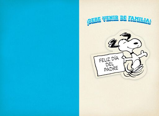 Snoopy and Woodstock Spanish-Language Father's Day Card for Dad from All,