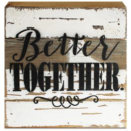 Better Together Wood Sign, 8x8, , large