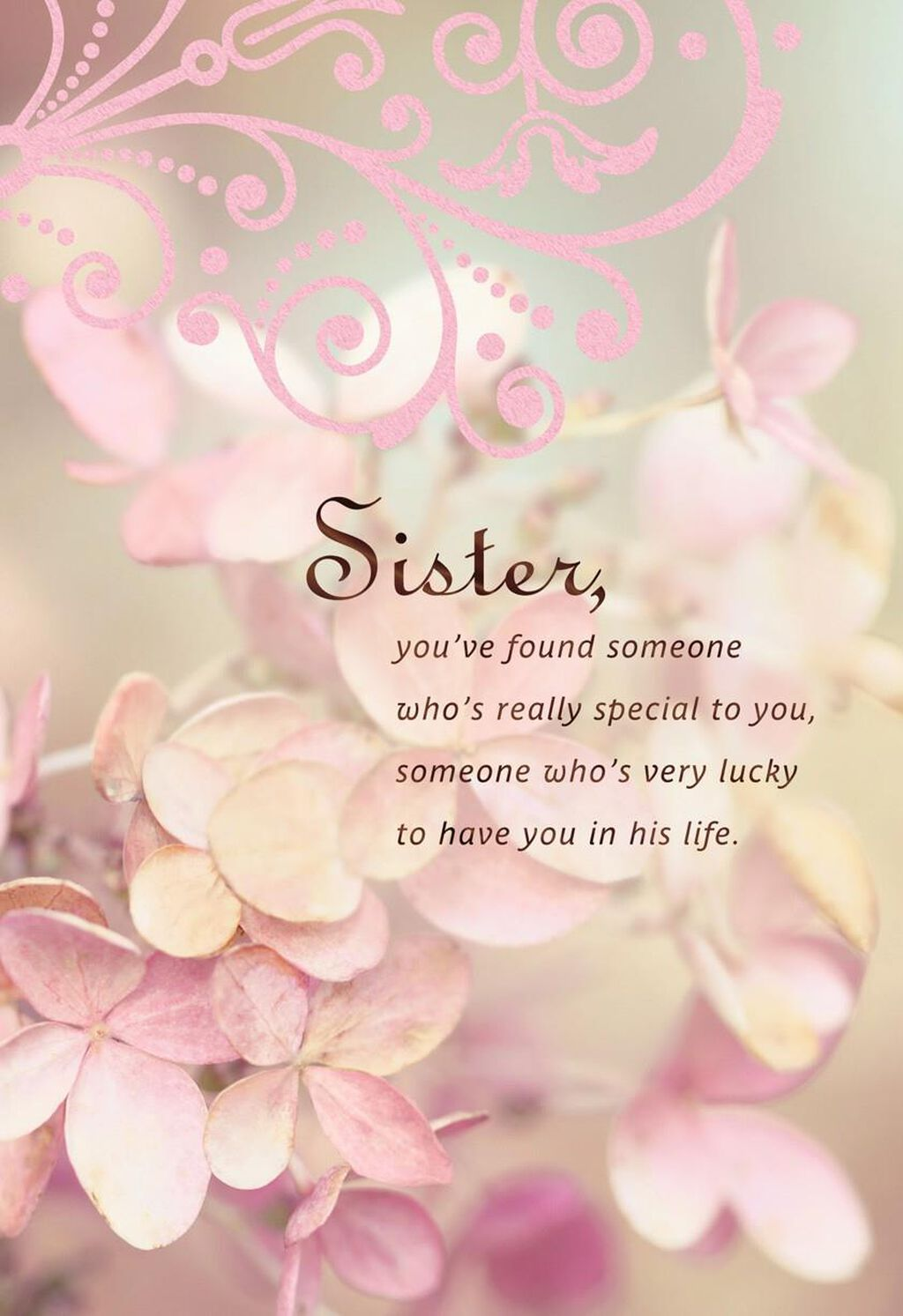 He\'s Lucky To Have You Sister Wedding Card - Greeting Cards - Hallmark