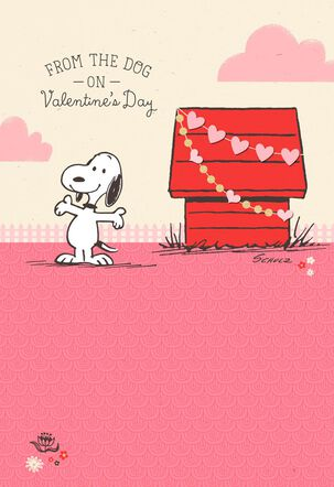 Peanuts® Snoopy Valentine's Day Card From the Dog