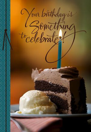 Chocolate Cake Celebration Birthday Card for Godfather