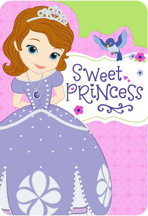 Sofia the First Sweet Princess Birthday Card for Girl