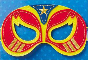 Super Hero Mask Birthday Card
