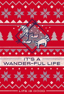 Life is Good® It's a Wander-Ful Life Christmas Card,