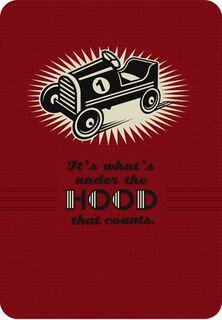 Kiddie Car Blank Birthday Card,