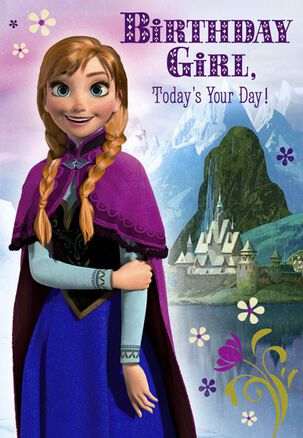 Frozen's Princess Anna Birthday Card