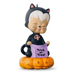 Sweet Trick-or-Treater Mary's Angel Halloween Ornament, , large