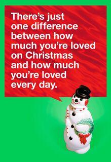 Snowman Love Christmas Card,