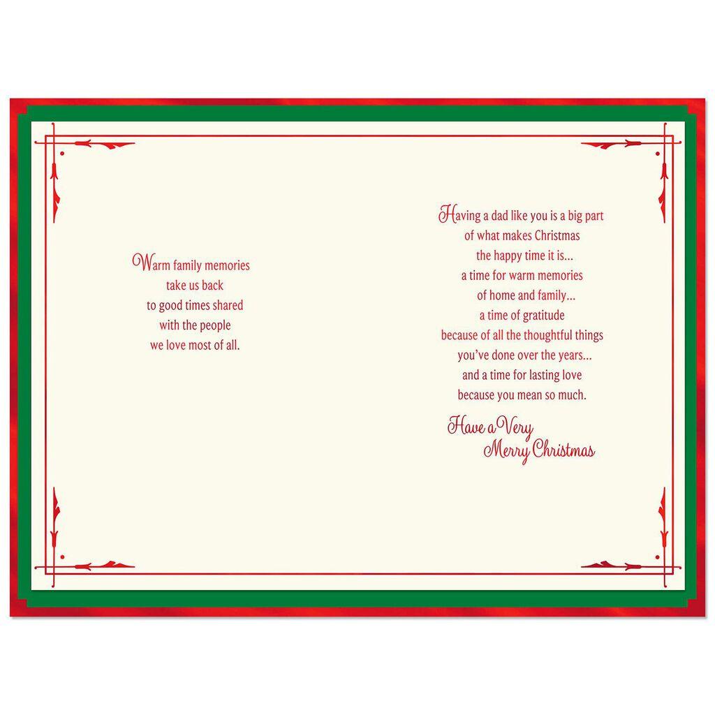 Tree Lot Scene Christmas Card for Dad - Greeting Cards - Hallmark