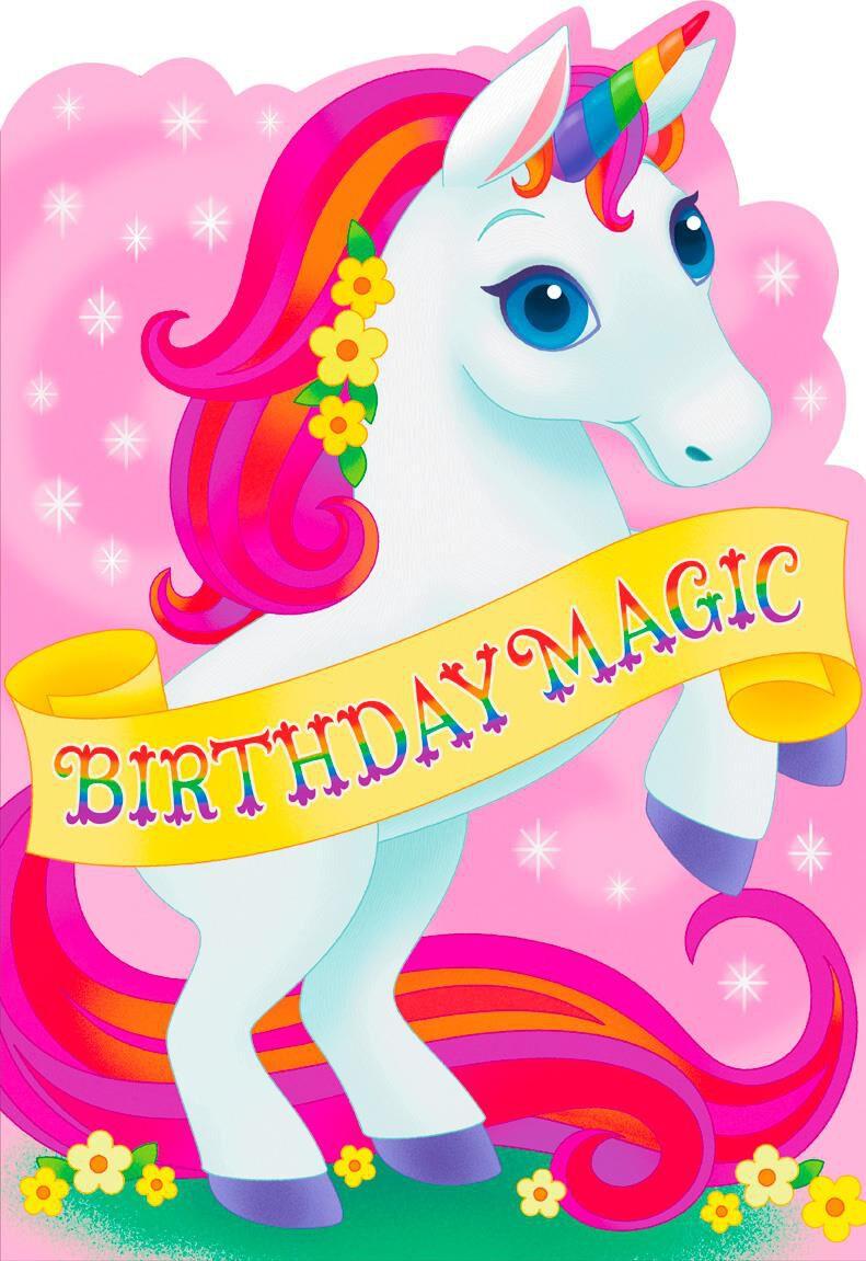 birthday magic unicorn jumbo birthday card  16 25 u0026quot  - greeting cards