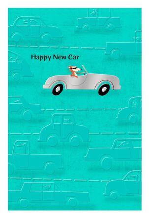 Animals Driving New Car Congratulations Card
