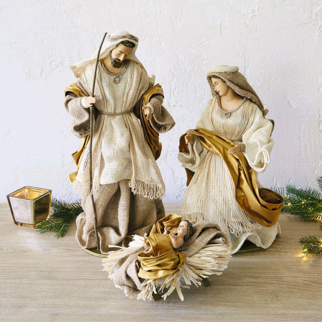 Fabric Holy Family Nativity Set 3 Pieces