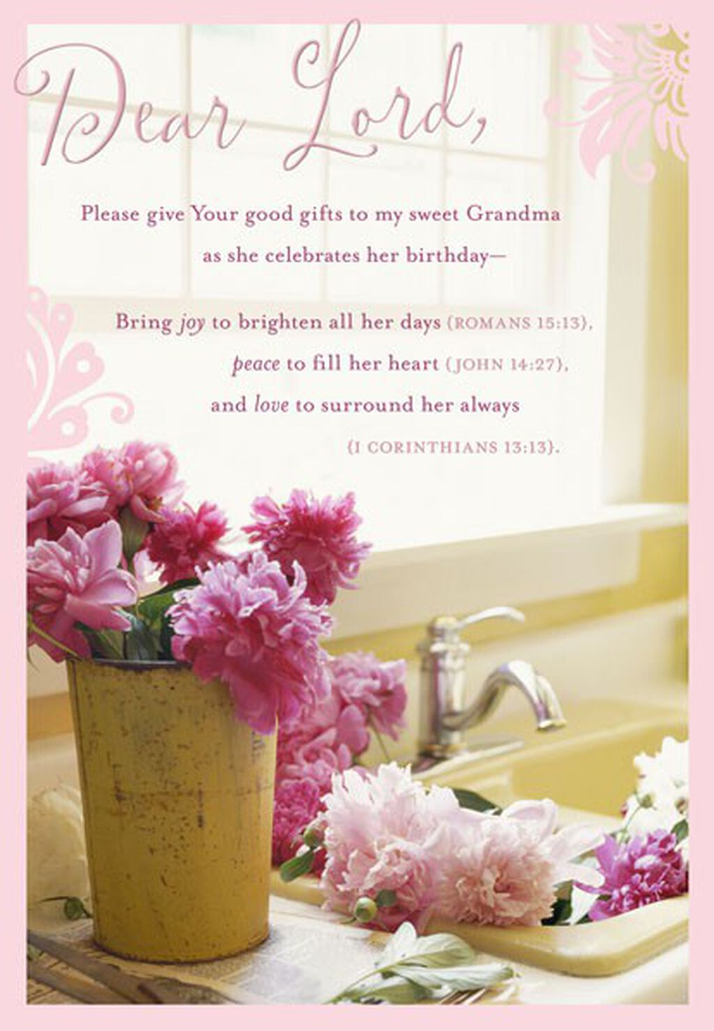 Prayer For Grandma Birthday Card