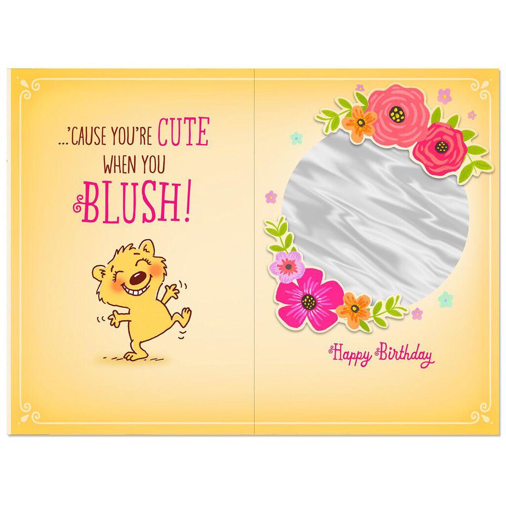 Mush To Make You Blush Funny Birthday Card