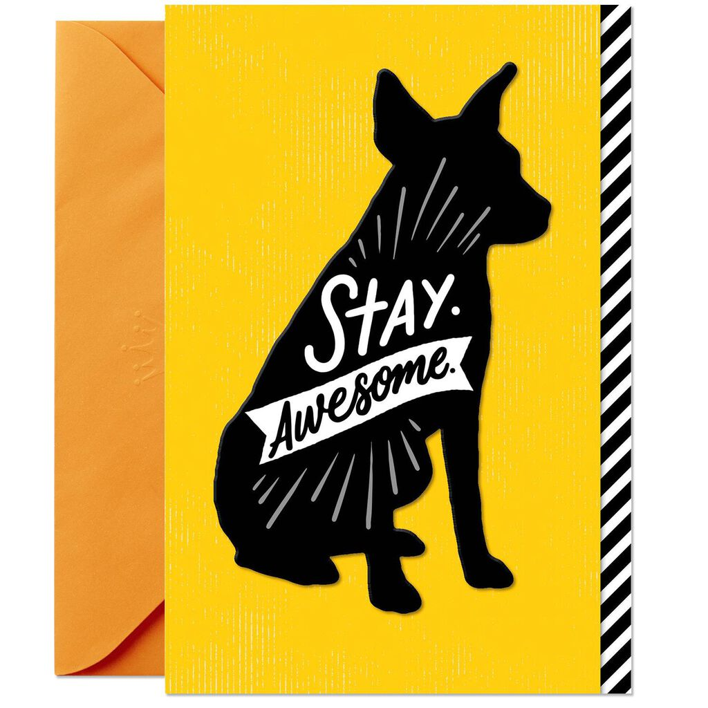 Silhouette Birthday Card From The Dog