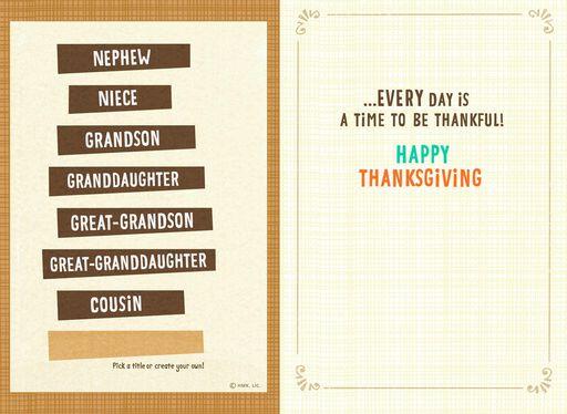 Raccoon Pilgrim Pick-a-Title Kids Thanksgiving Card,