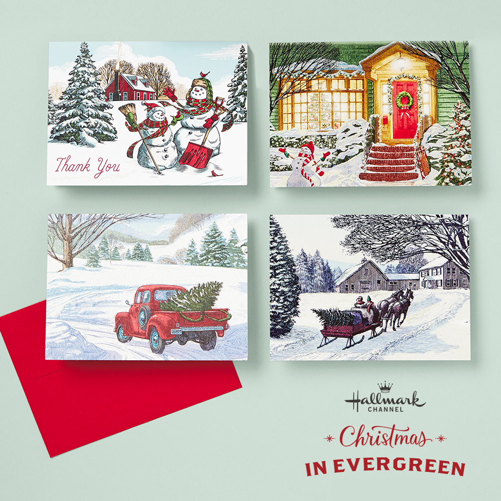 Christmas in Evergreen Gift Wrap and Stationery