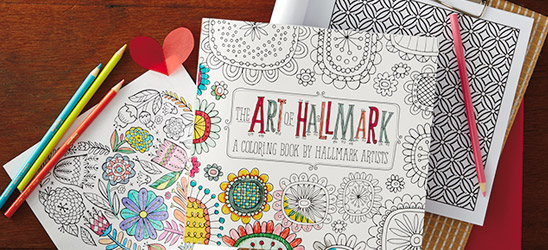 BOGO 50% off Hallmark coloring products