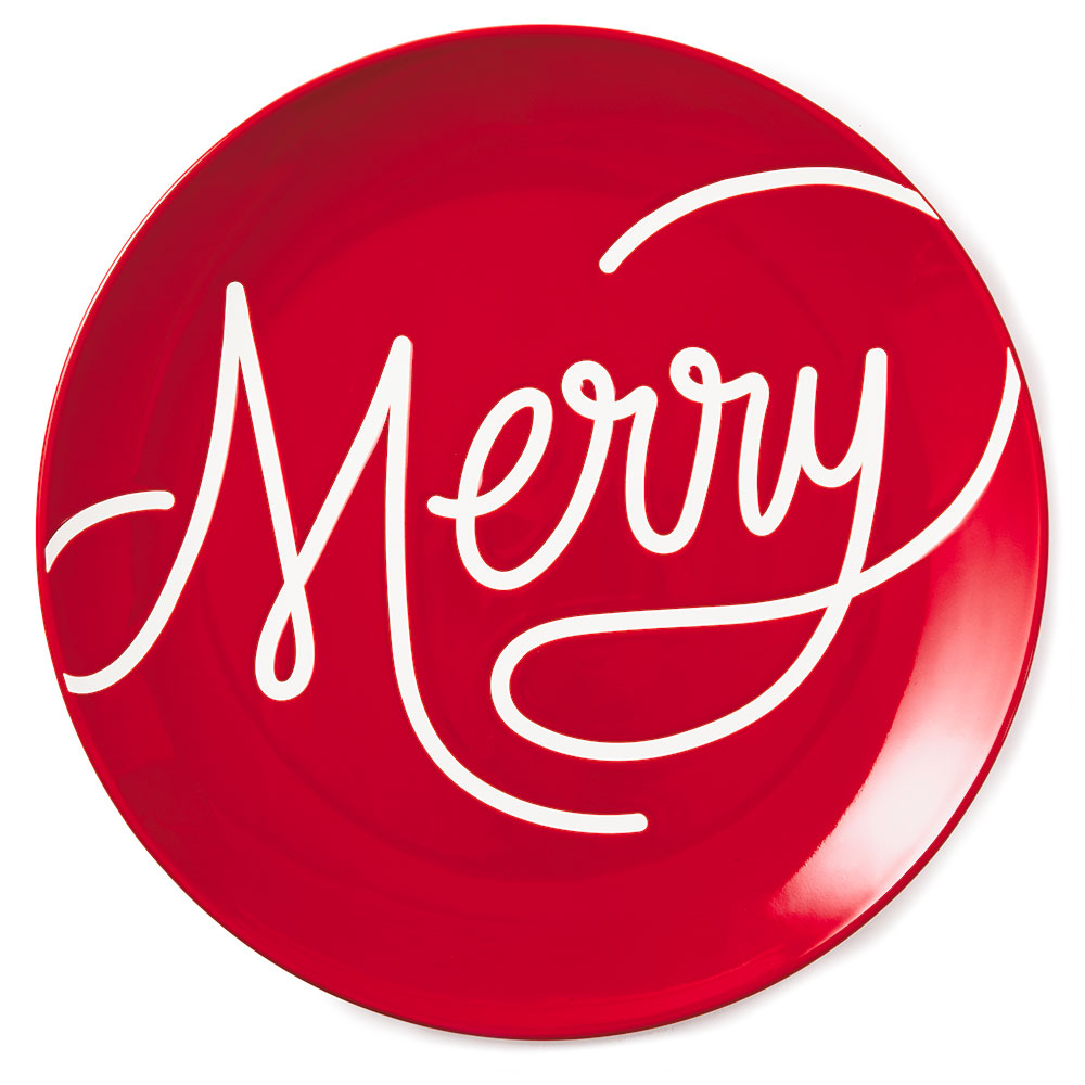 Merry Ceramic Serving Plate
