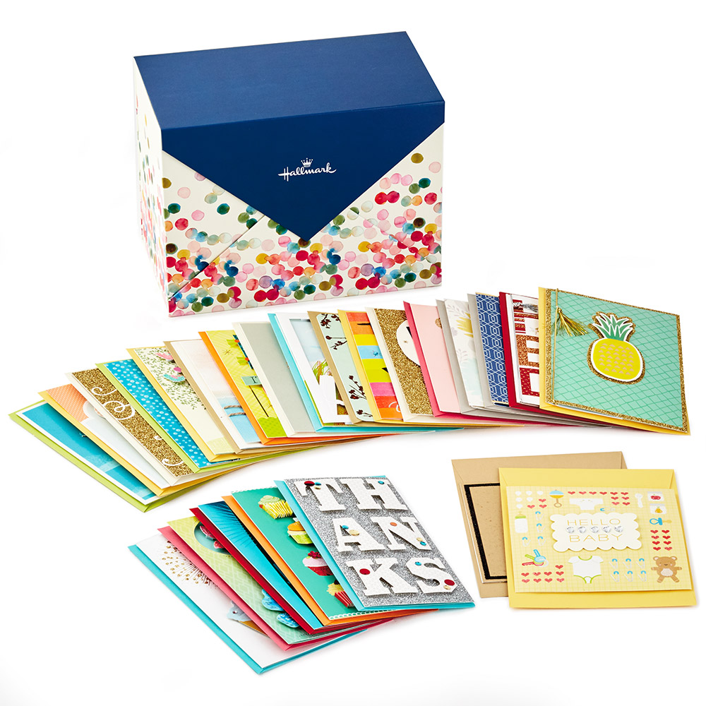 Assorted Everyday Cards Organized in Storage Box