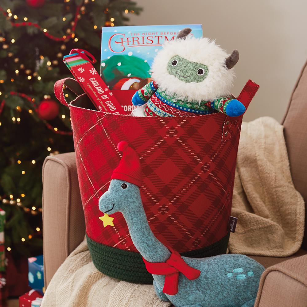 Plaid Holiday Basket