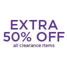 Save an additional 50% off clearance