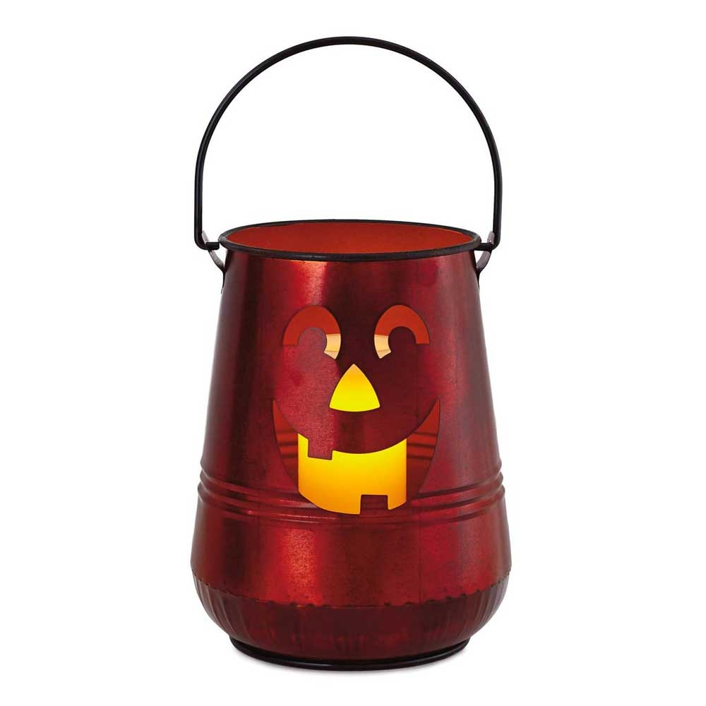 Large Pumpkin Metal Lantern