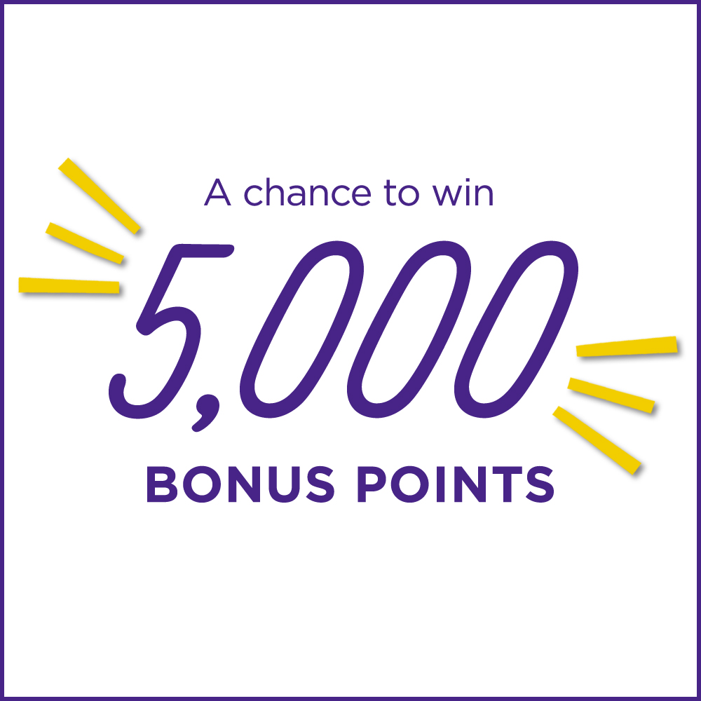 A chance to win 5,000 Bonus Points