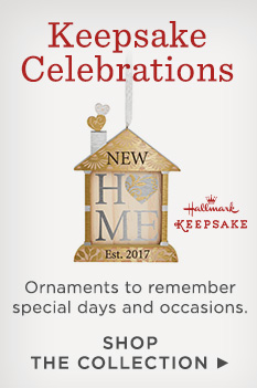 Celebrate special moments with Hallmark Keepsake Celebrations ornaments.