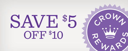 Save $5 off $10
