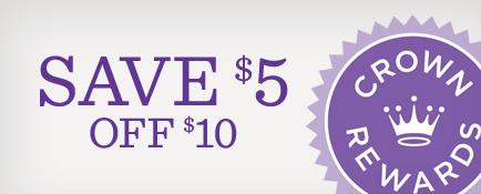 Save $5 off $10