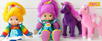 Rainbow Brite™ and Stormy dolls and horses