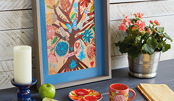 Colorful home decor and kitchen essentials
