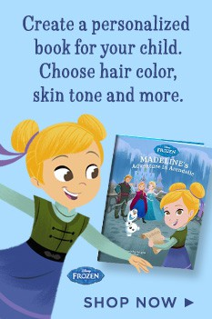 Create a personalized book for your child and choose hair color, skin tone and more.