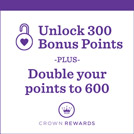 Unlock 300 or 600 Bonus Points with your 3-card purchase