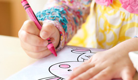 Add coloring pages to the Easter morning fun.