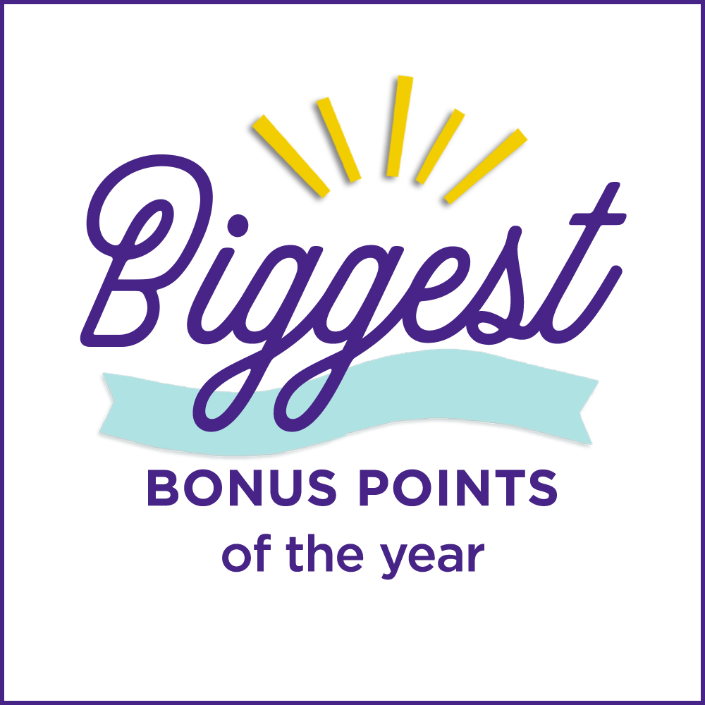Biggest Bonus Points of the year!