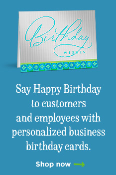 Personalized Business Birthday Cards