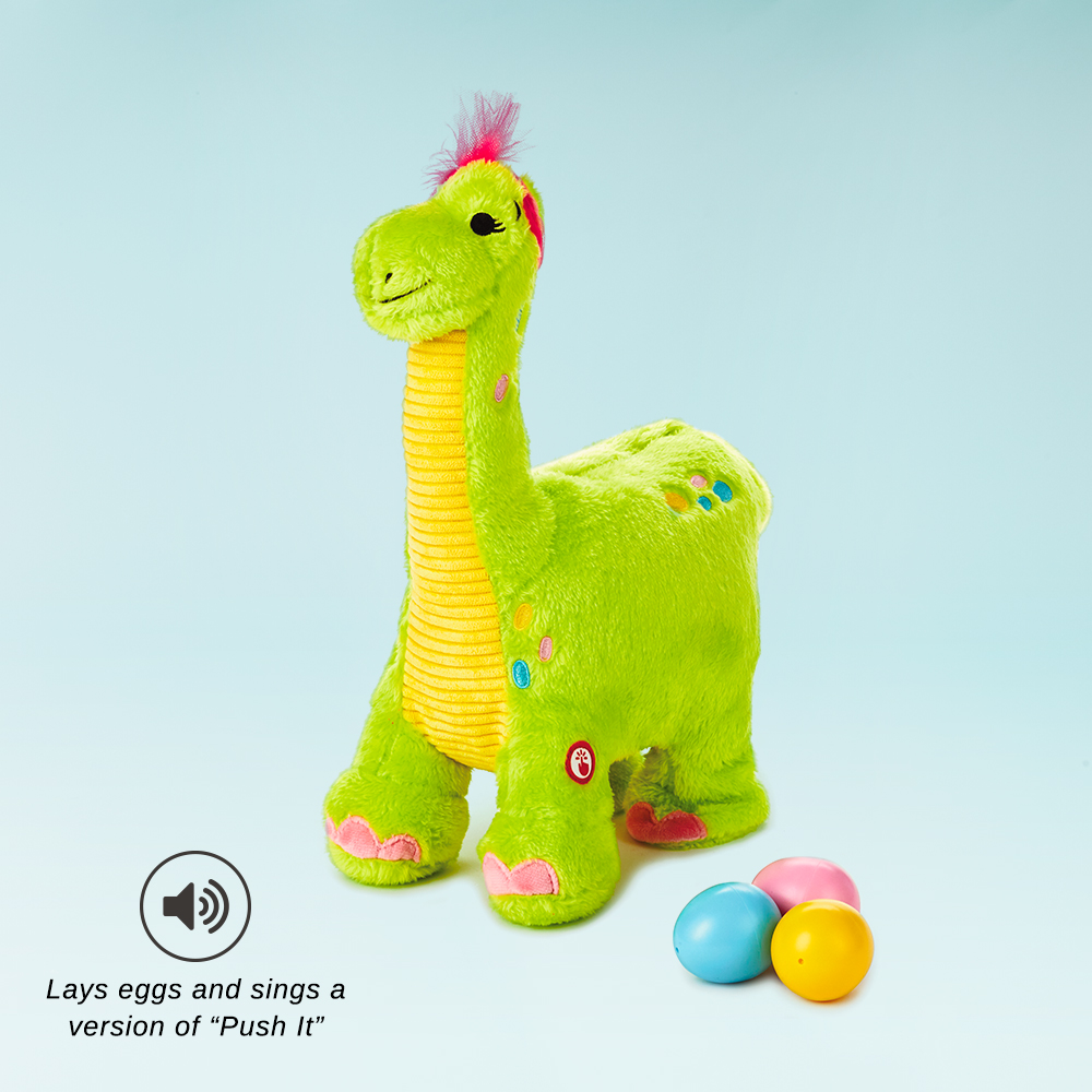 Egg Layin' Dino Musical Stuffed Animal