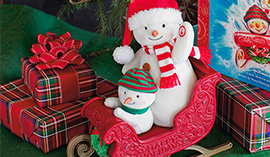 Save on the Twinkling Sleigh Ride Snowmen at Hallmark.