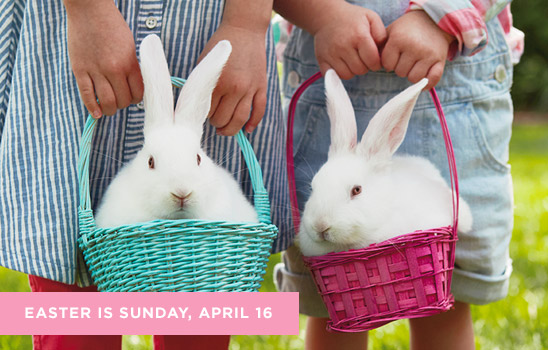 Easter is Sunday, April 16