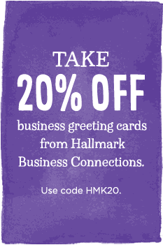Take 20% off business greeting cards from Hallmark Business Connections