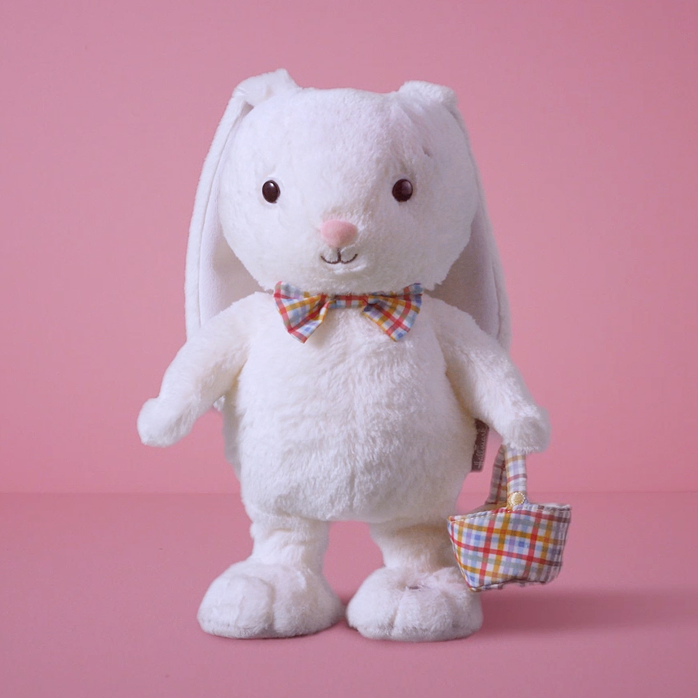 Hoppy Easter Bunny Singing Stuffed Animal With Motion
