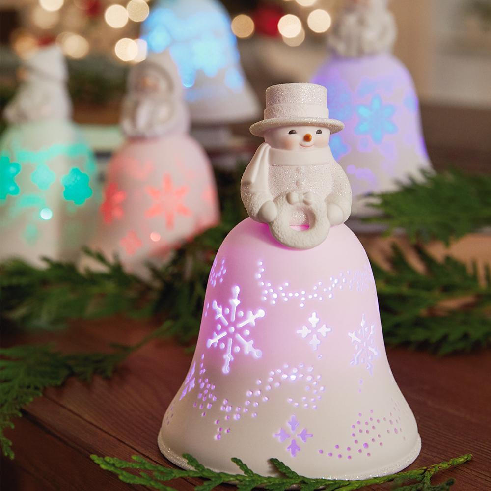 Snowmen Bell Choir Musical Decorations With Light