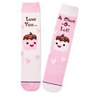 Valentine's Day socks in 3 different patterns