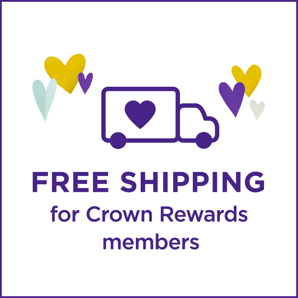 Free shipping for Crown Rewards members