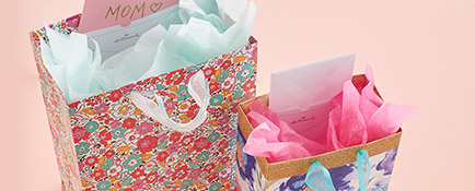 Mother's Day gift bags with card pockets