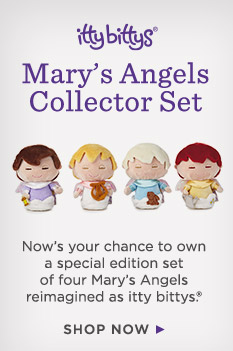 Now's your chance to own a special edition set of four Mary's Angels reimagined as itty bittys®.