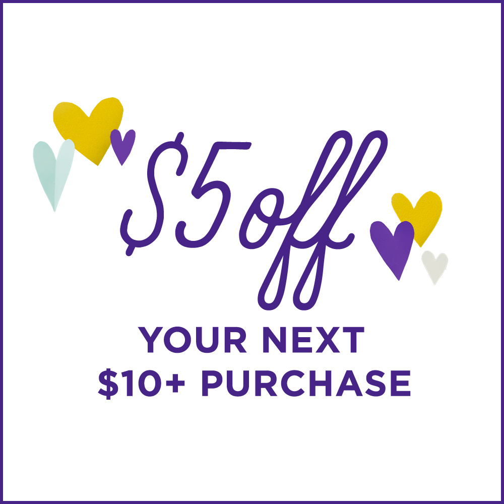 save $5 off $10 purchase
