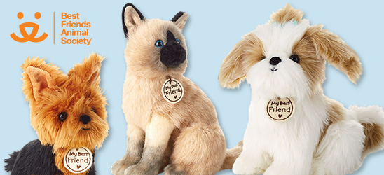Shop dog and cat stuffed animals from Hallmark and Best Friends Animal Society.